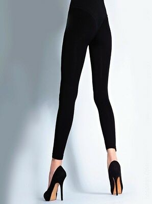 Cecilia de Rafael Luxury 100 Denier Leggings, Thick, Black, Completely Opaque