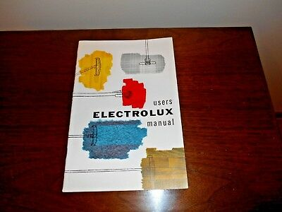 Vintage Electrolux Vacuum Cleaner 1956 User Guide / Owner's Manual