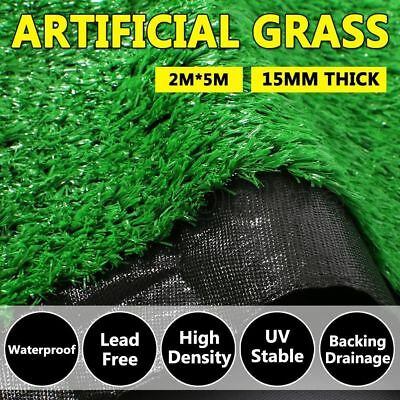 10 SQM Synthetic Artificial Grass Turf Plastic Plant Lawn Flooring 15mm Emerald