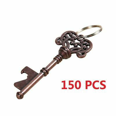 150pcs Vintage Skeleton Metal Key Bottle Opener Beer Wedding Bridal Shower Favor