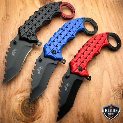 "8"" Spring Assisted Open Folding Pocket Knife Karambit Combat Claw Tactical New"