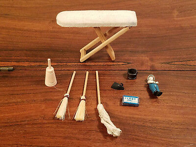 Vintage Set of 15 Various Doll House Furniture And Accessories