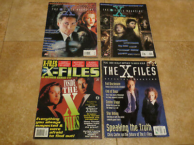 X-Files Vintage Magazine Lot Topps Official Xfiles 1 & 2, Starlog special, Etc.
