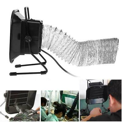 30W Solder Iron Smoke Absorber Remover Home Fume Extractor Filter Fan + Air Pipe