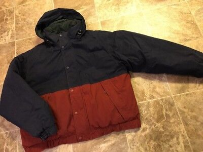 Mens VTG Eddie Bauer Hooded Down Coat Parka Size XXL