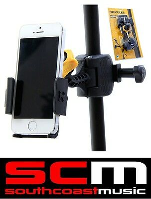 Hercules Dg200B Smartphone Holder Clamp Mic Microphone Stand Iphone / Galaxy New