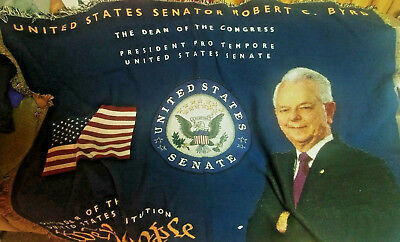 Robert C Byrd president pro tempore Senate tapestry wall hanging 6'X 4'