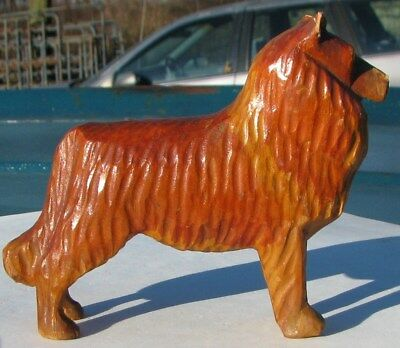 Antique Miniature Hand Carved Wood Collie Dog Wooden Figurine 1880 – 1900