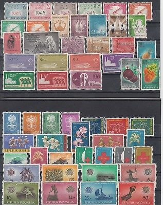 Indonesia: collection of the 1960s. 90 stamps. MUH.Scarce items. Going cheap