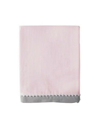 Living Textiles, Baby Bed Skirt, Crib, Pink, 100% Cotton
