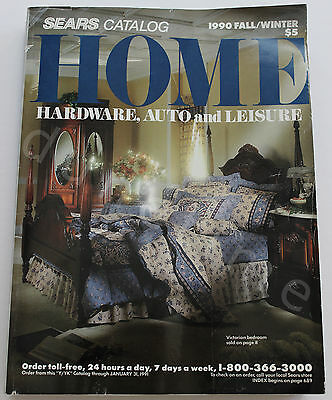 Vintage 1990 Fall / Winter Sears Home Department Catalog Hardware Auto Leisure