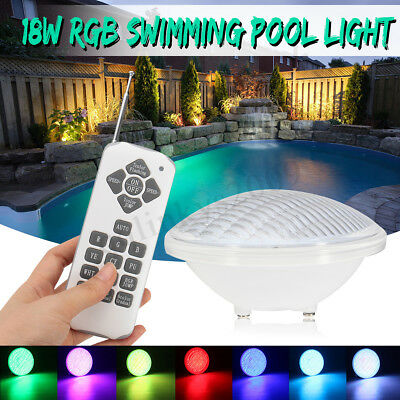 AU 7 Color 15W RGB Spa Swimming Pool LED Light Underwater Remote Control Lamp