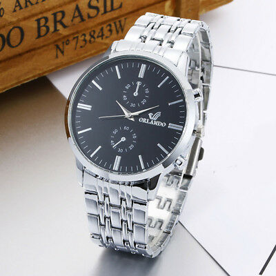 Mens Fashion Luxury Business Stainless Steel Analog Quartz Vogue Watches 2018 US