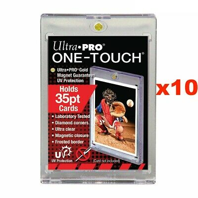 10 x Ultra Pro UV ONE TOUCH 35pt Magnetic Closure Card Holder Display 64mm x 89