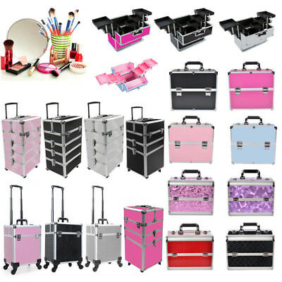 Make Up Case Jewellery Storage Vanity Beauty Cosmetic Box Trolley Extra Large