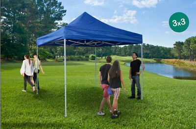 Custom Printed Steel Tent 3x3 White, Red, Blue with Trolley