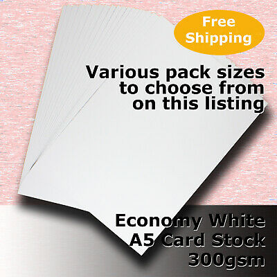 Economy Card Stock WHITE A5 Size 300gsm #H5505