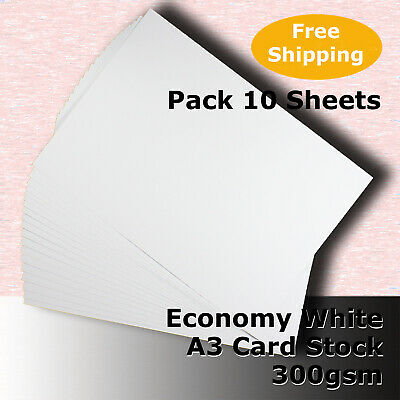 20 Sheets WHITE A3 Size 300gsm Economy Card Stock General Purpose #H5568 #HHHJ