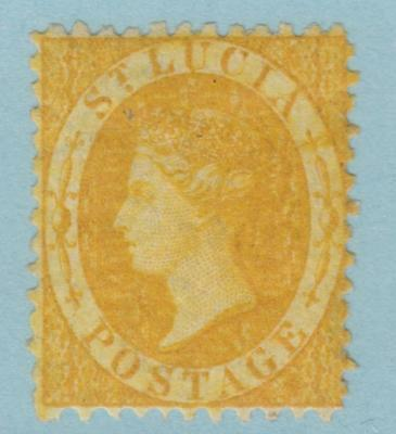 St Lucia 8 1863 Wmk Cc Perf 12.5 Mint Hinged Og *  No Faults Very Fine !