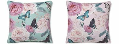 Catherine Lansfield Modern Botanical Butterfly Cushion Covers 43cm x 43cm