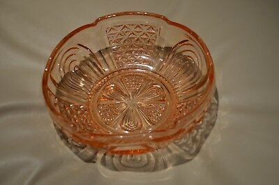 Pink Crown Crystal Diamond Arches Large Sized Cupped in Bowl