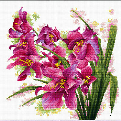 No Count Cross Stitch Kit LOVELY ORCHIDS, 39 x 39cm