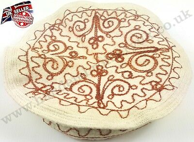 Embroidered Pakol Pakul Afghan Donut Hat Beret Chitral Embroidery Taliban Cap