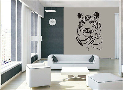 A Black Tiger Vinyl Sticker Decal Drawing Room Bed Room Wall Decor-1346