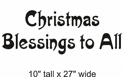 Christmas Blessing Removable Wall Art Decals Vinyl Sticker Mural Decor-FA292