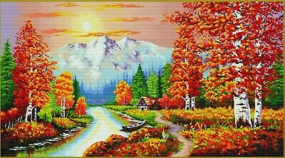 No Count Cross Stitch Kit A FLAMING SUNSET, 90 x 50cm