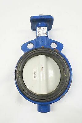 Deltech Delval 50050111E380 Iron Wafer Butterfly Valve 5in