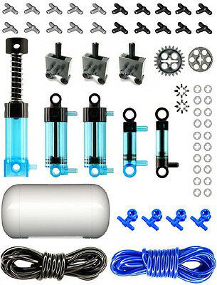 LEGO Pneumatic Parts air,tank,manometer,pump,cylinder,mini,switch,hose,fitting