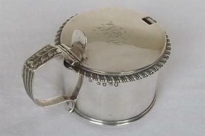 A V Large Solid Silver George Iii Mustard Pot By Solomon Royes London 1820.