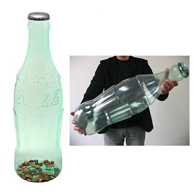 "Large Cola Bottle Piggy Bank Coin Storage Coke Kids Money Safe Decor 24"" Plastic"