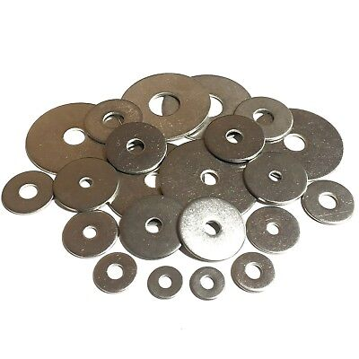 4mm 5mm 6mm 8mm 10mm 12mm 16mm ID Penny Washers - A2 Stainless - Mudguard Repair