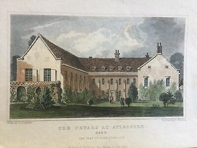 1812 Dated Small Antique Print ~ Chicksand Priory ~ Bedfordshire Art Prints