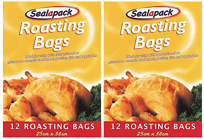 2 x Sealapack Roasting Bags Oven Cooking Microwave Meat Chicken Fish Pork Veg