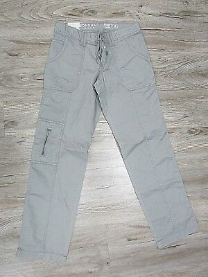 NWT Ladies Sonoma Straight Mid Rise Light Grey Stretch Cargo Pants Size 2S *NEW