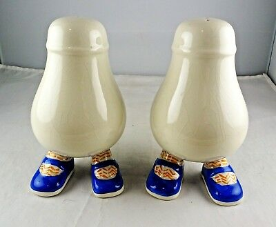 Carlton Ware English Lustre Pottery Walking Ware Salt & Pepper Pair
