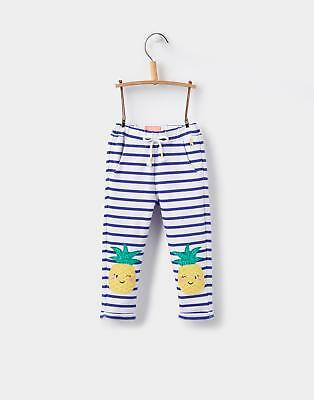 Joules Baby Girls' Pattie Trousers with Character in Pool Blue Stripe