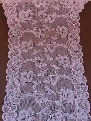 """Lilac Soft  Stretch Wide French Lace 8.5""""/22 cm Lingerie Trim Craft"""