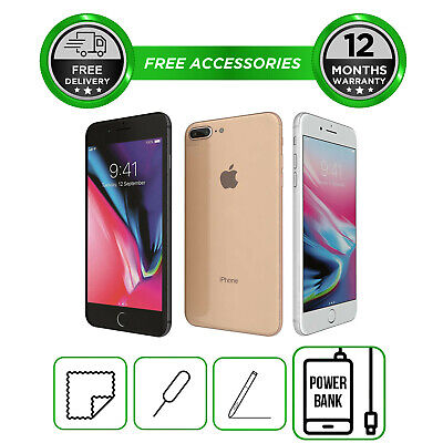 Apple iPhone 8 Plus 64GB 256GB All Colours Unlocked to All Network Smartphone