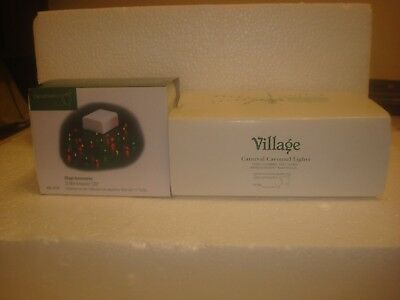 DEPT 56 Lot of 2 Village Accessories-Carnival Carousel Lights & 25 Mini Ampoules