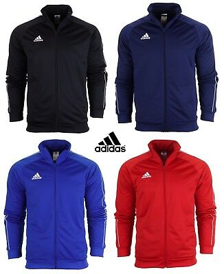 Adidas Core Full Zip Tracksuit Track Top Jacket Jumper Sweatshirt Sweater Gym