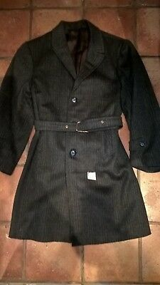 Boy's vintage belted warm overcoat, wartime, never worn