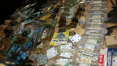 Vintage Lot Of Over 1000 Pcs. Assorted Cabinet Handles And Hinges And Many More