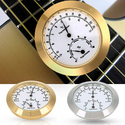 Alloy Round Thermometer Hygrometer Humidity Temperature Meter for Violin Guitar