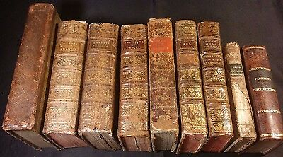 Lot of 9 Very Old Rare Religious Books - 1700-1800s
