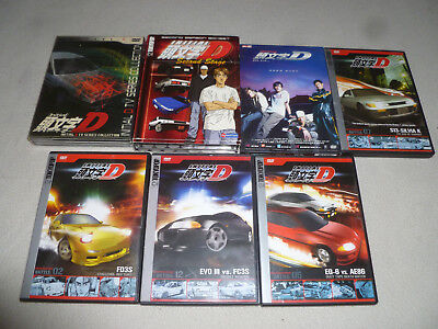 Japan Anime Dvd Lot Initial D Second Stage Red Suns Secret Weapon Collection Tv
