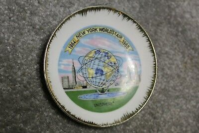 Plate, New York World's Fair  1964 / 1965,  4 1/2 inch diameter.,  Unisphere